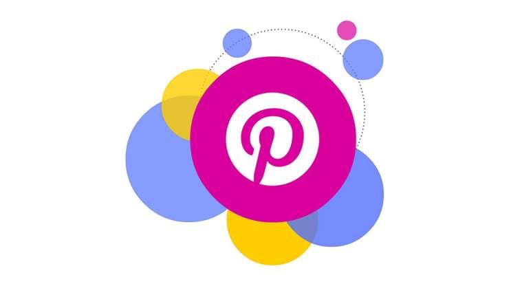 Pinterest colorful circular logo.
